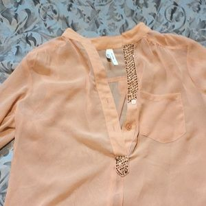 Beaded sheer blouse